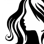 女性の横顔のイラスト