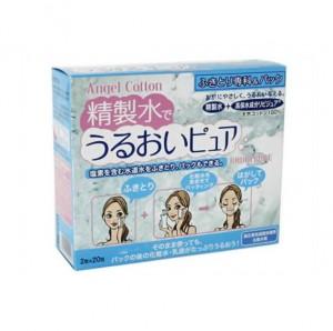 Angel Cotton 精製水でうるおいピュア ふきとり専科&パック